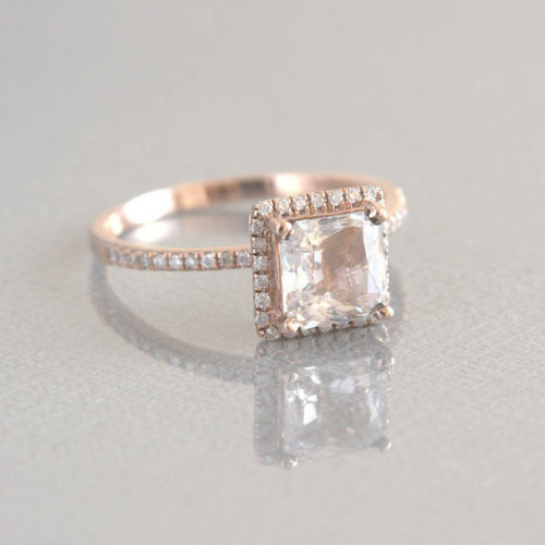 il 570xN.527930299 t8wr 500x500 - 2.26 Ct Champagne Peach Sapphire Gold Engagement Ring ***P705