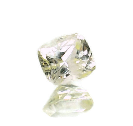 2444 2 - 2.21ct light yellow sapphire 7.49x6.61x4.93