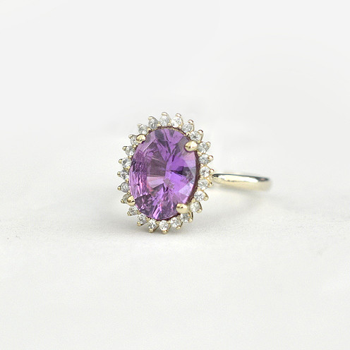 3.84ct 18k white gold sapphires 1.3mm 3 - 3.84 carats Untreated magenta color sapphire 18k white gold ***Cluster Sapphires Magenta
