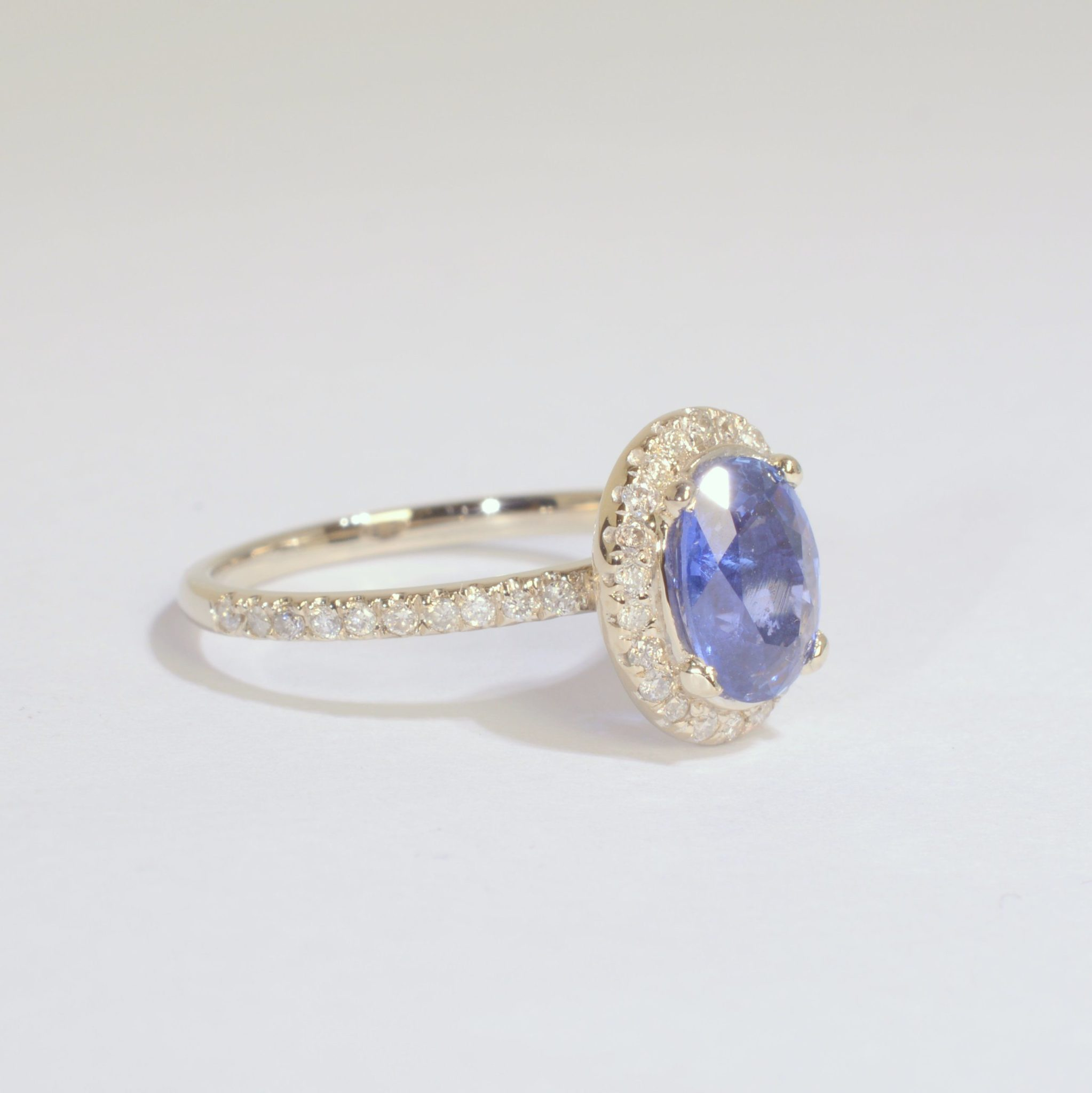 1 45 Royal Blue Sapphire engagement ring top royal blue wholesale price Sku