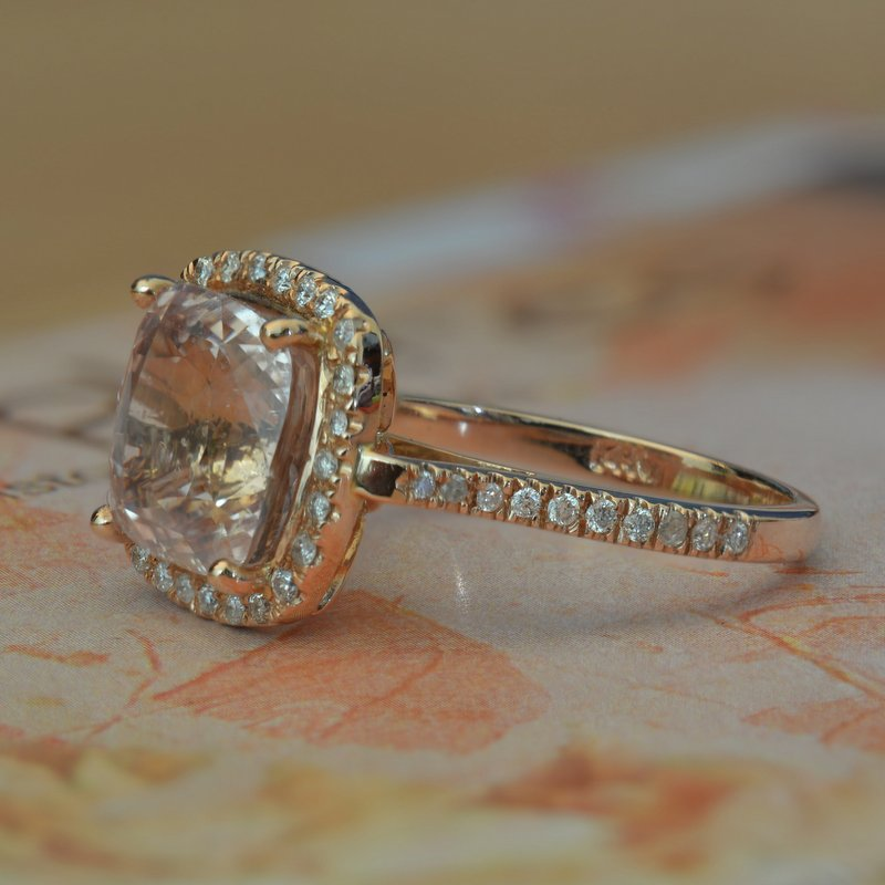 peach engagement ring
