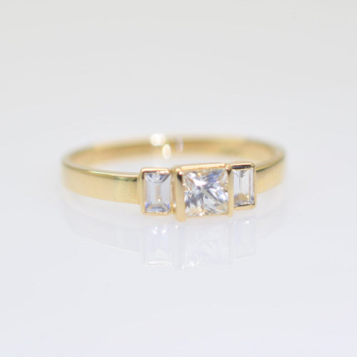 il fullxfull.1496725436 oify 500x500 - Yellow gold and white sapphires engagement ring, Dainty gold delicate sapphire ring, promise ring handmade
