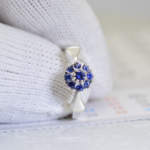 il fullxfull.1544204525 9bl0 500x500 - Handmade Art Deco ring, Dainty Blue sapphires delicate ring, sterling silver, promise ring, engagement ring