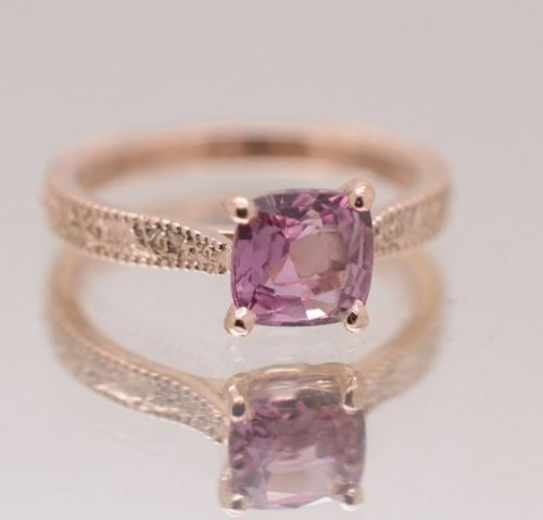 solitary pink sapphire